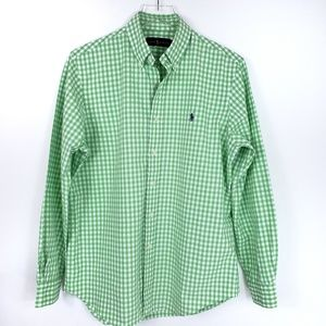 Ralph Lauren Gingham check Button down Polo Long